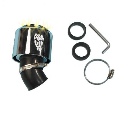 Filtre à air C4 45° 35-28 mm silver à LED