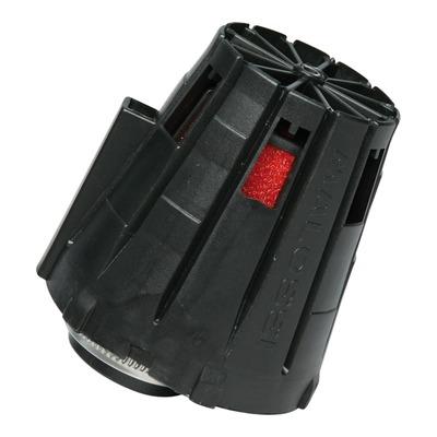 Filtre à air Malossi E5 droit décentré pour PHBG Ø 15-21 couvercle noir et mousse rouge