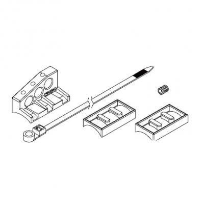 Fixation de capteur de vitesse M10 Koso type L