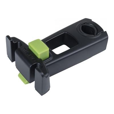 Fixation panier vélo sur potence à plongeur compatible Klickfix (diam 22-25,4mm)
