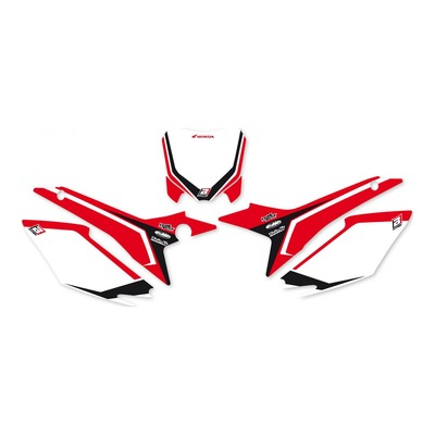 Fonds de plaques Blackbird Racing Honda CRF 250R 14-17 noir/rouge