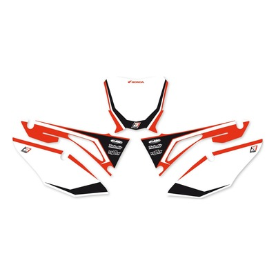 Fonds de plaques Blackbird Racing Honda CRF 250R 18-21 noir/rouge