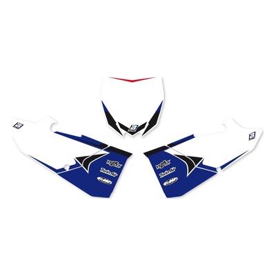 Fonds de plaques Blackbird Racing Yamaha 250 YZ 15-21 bleu/blanc