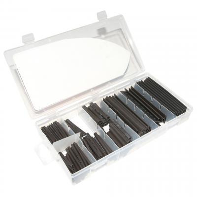 Gaine thermorétractable 1Tek Tools assortiment 127 tubes noir