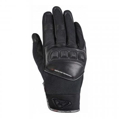 Gant cuir/textile Ixon RS Run noir