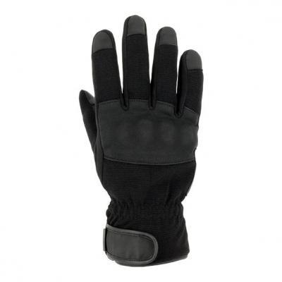 Gant cuir/textile S-Line Oural noir