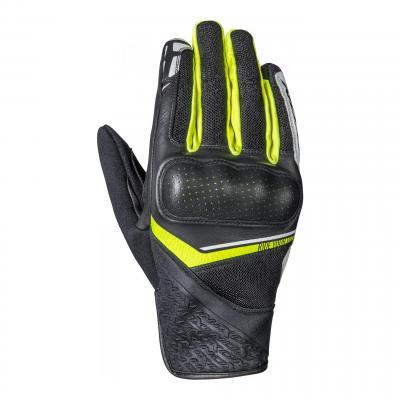 Gant été cuir/textile Ixon RS Launch noir/jaune vif/blanc