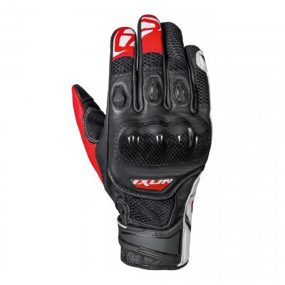 Gant été cuir/textile Ixon RS Recon Air noir/rouge/blanc