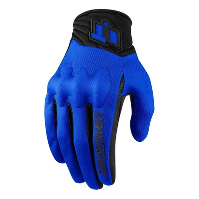 Gant textile/cuir Icon Anthem 2 bleu