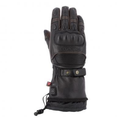 Gants chauffants cuir Overlap Warmer noir