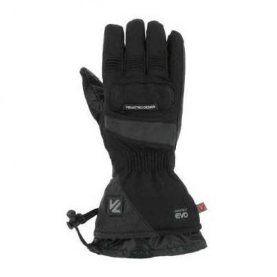 Gants chauffants cuir/textile V'Quattro Alpha 18 Heating noir