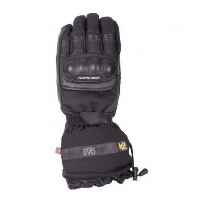 Gants chauffants cuir/textile V'Quattro Mercure 18 Heating noir