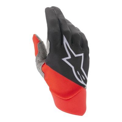 Gants cross Alpinestars Dune noir/bright rouge