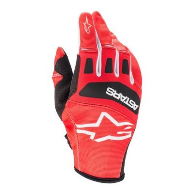 Gants cross Alpinestars Techstar bright rouge/noir