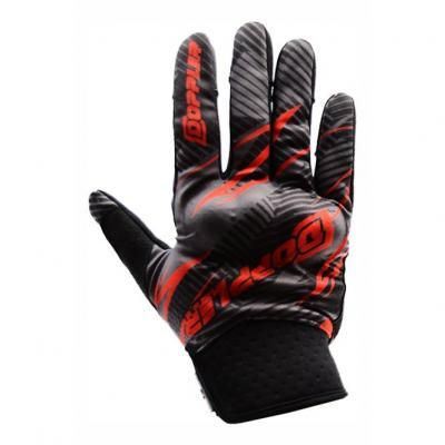 Gants cross Doppler noir / rouge