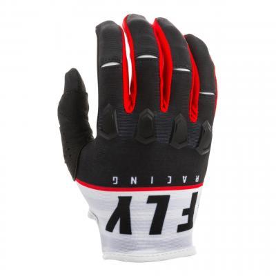 Gants cross enfant Fly Racing Kinetic K120 noir/blanc/rouge