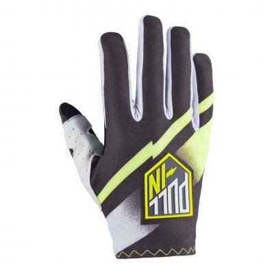 Gants cross enfant Pull-in Challenger gris/lime