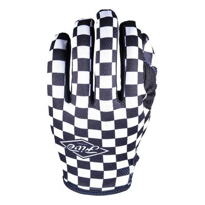 Gants cross Five MXF4 Flat Track noir/blanc