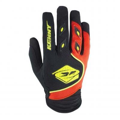 Gants cross Kenny Track noir/orange fluo
