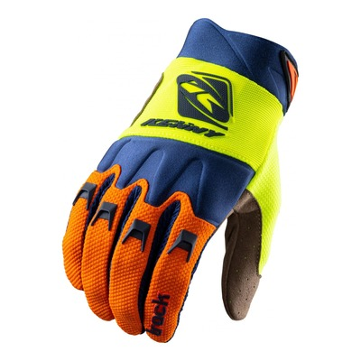 Gants cross Kenny Track orange/navy/jaune fluo