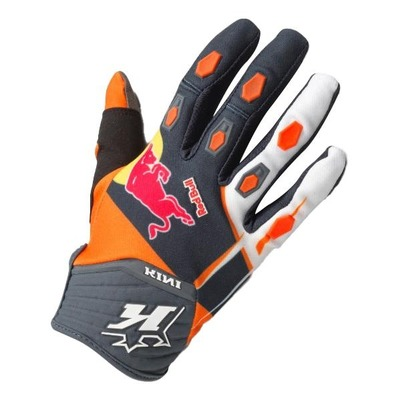 Gants cross Kini Red Bull Competition orange/blanc/bleu