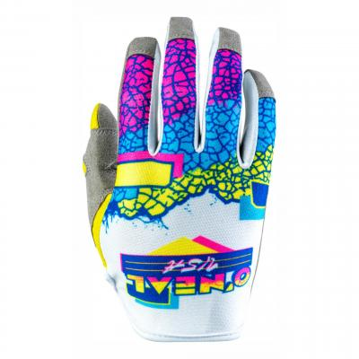 Gants cross O'Neal Mayhem Crackle 91 jaune/blanc/bleu
