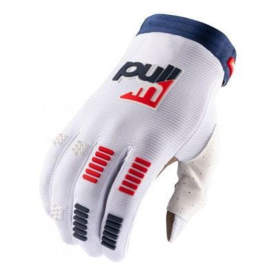 Gants cross Pull-in Challenger bleu/blanc/rouge