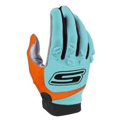 Gants cross S-Line Mx cross US tactile CE bleu/orange