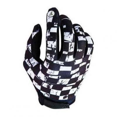 Gants cross Seven Annex Checkmate blanc