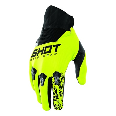 Gants cross Shot Devo Storm jaune fluo