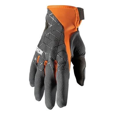 Gants cross Thor Draft charcoal/orange