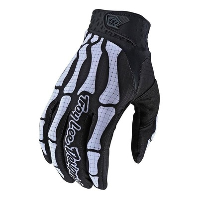 Gants cross Troy Lee Designs Skully noir/blanc