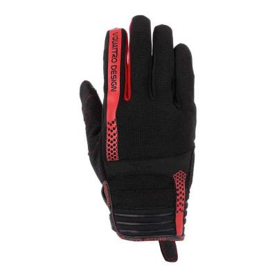 Gants cross V'Quattro Rush 18 noir/rouge