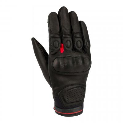 Gants cuir Bering Vasko noir/rouge