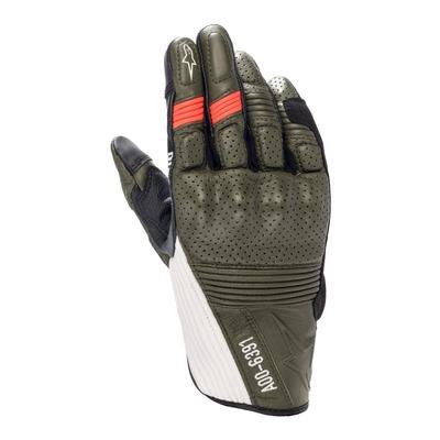 Gants cuir Diesel/Alpinestars AS-DSL Kei Forest/noir/blanc/rouge fluo