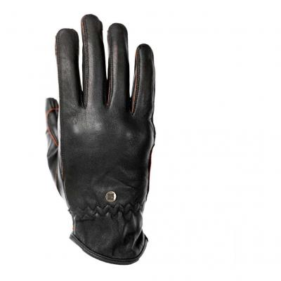 Gants cuir femme Overlap Mila noir