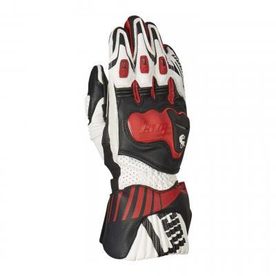 Gants cuir Furygan Shifter rouge/noir/blanc