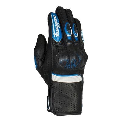 Gants cuir Furygan TD Roadster noir/bleu/blanc