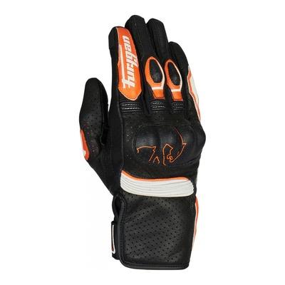 Gants cuir Furygan TD Roadster noir/orange/blanc