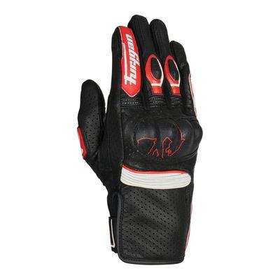 Gants cuir Furygan TD Roadster noir/rouge/blanc