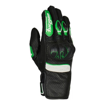 Gants cuir Furygan TD Roadster noir/vert/blanc