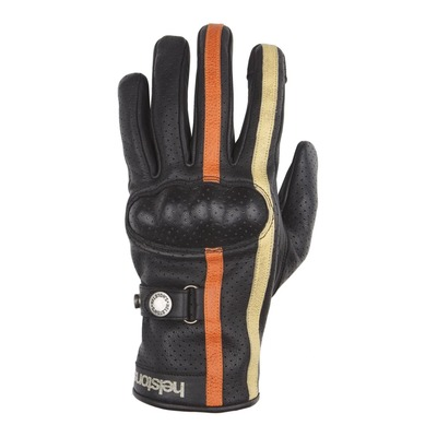 Gants cuir Helstons Eagle Air noir/orange/beige