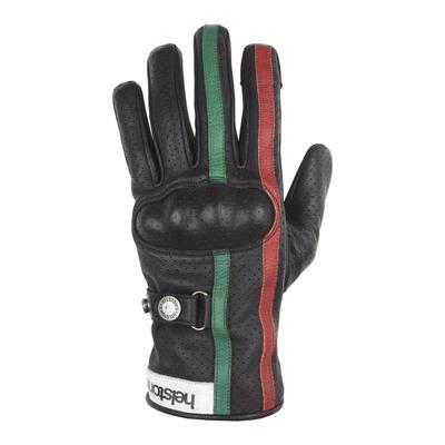 Gants cuir Helstons Eagle Air noir/vert/rouge