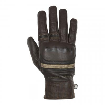 Gants cuir Helstons Mora marron/noir/beige