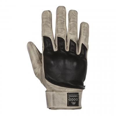 Gants cuir Helstons Wolf beige/noir