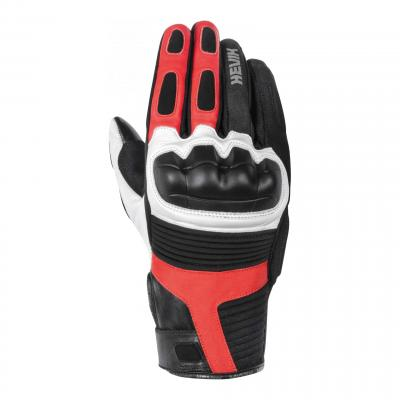 Gants cuir Hevik Abrego noir/blanc/rouge