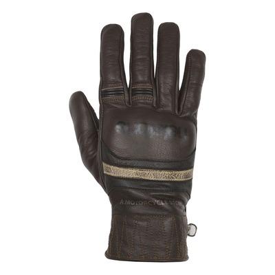 Gants cuir hiver Helstons Bora marron/beige