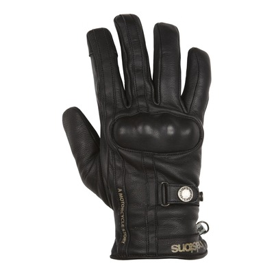 Gants cuir hiver Helstons Burton noir/noir