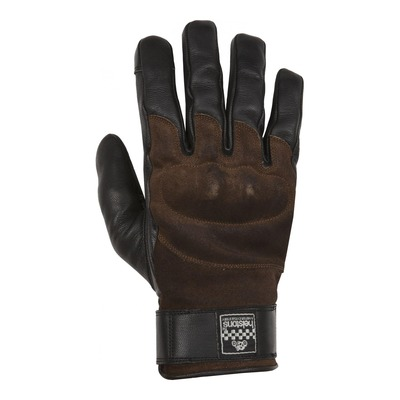 Gants cuir hiver Helstons Glory marron/noir