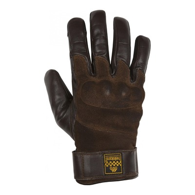 Gants cuir hiver Helstons Glory marron